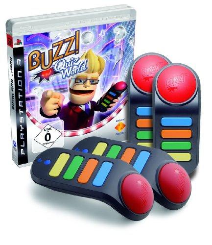 buzz quiz world 4 buzzers sans fil ps3 argus jeux vid o d 39 occasion. Black Bedroom Furniture Sets. Home Design Ideas
